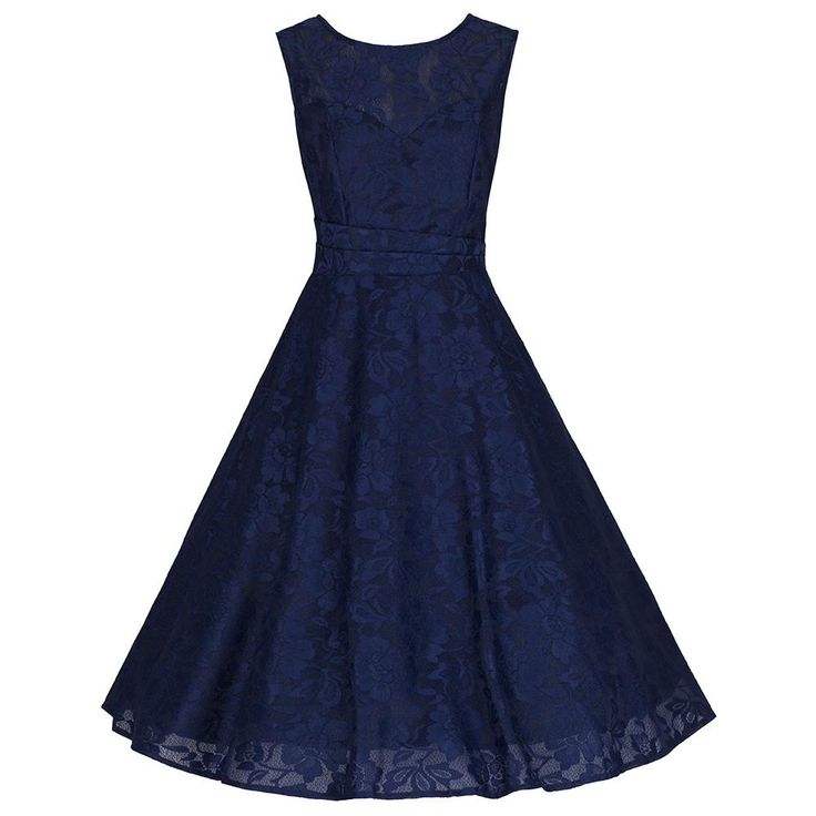 Sleeveless Navy Lace Audrey Swing Dress – Pretty Kitty Fashion £59.99 - sizes 8-18 available