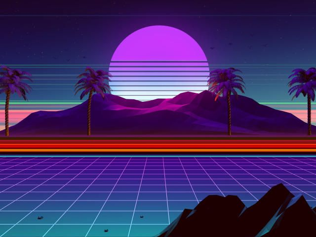 Animated Vaporwave Background 4k