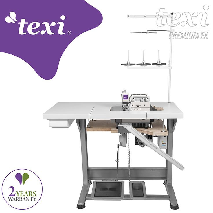 3-threads overlock machine for very narrow and dense overedging (hemstitch) with AC Servo motor - complete sewing machine with 2 years warranty