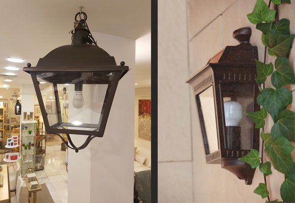 Ideas de iluminación exterior para terrazas y porches. Apliques de pared. http://www.ptdecoracion.com/iluminacian-exterior-verano.html