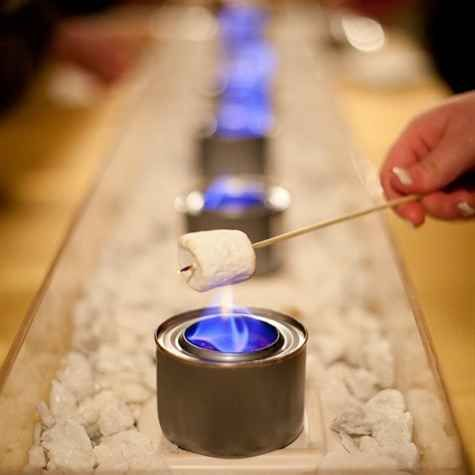 Treat your guests to a s'mores bar. | 42 Lovely Ideas For A Cold-Weather Wedding