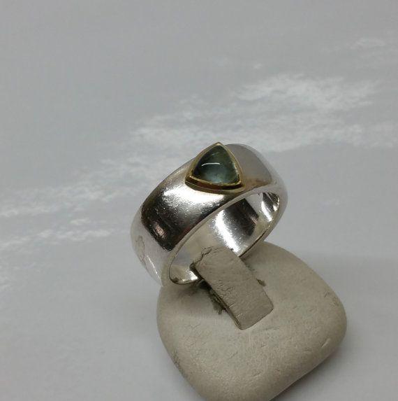 Ring Silber 925 teilvergoldet Bergkristall SR609 von Schmuckbaron