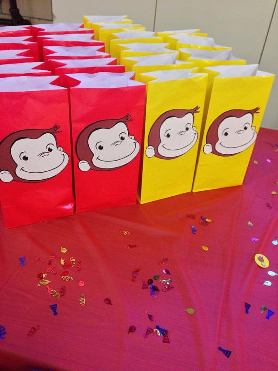 On November 28th to the 29th you will be able to receive FREE SHIPPING when you enter the promo code THANKYOU5   On Cyber Monday i will be having a buy one get one half off! In order to receive this deal you must first request a custom order if not it will not come off at check out!  10 Curious George Party Goody Bags by KaylieMP on Etsy   Curious George circus party goody bags favor bags