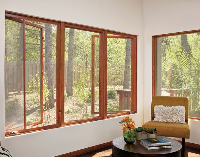 Marvin Ultimate Casement windows with retractable screens