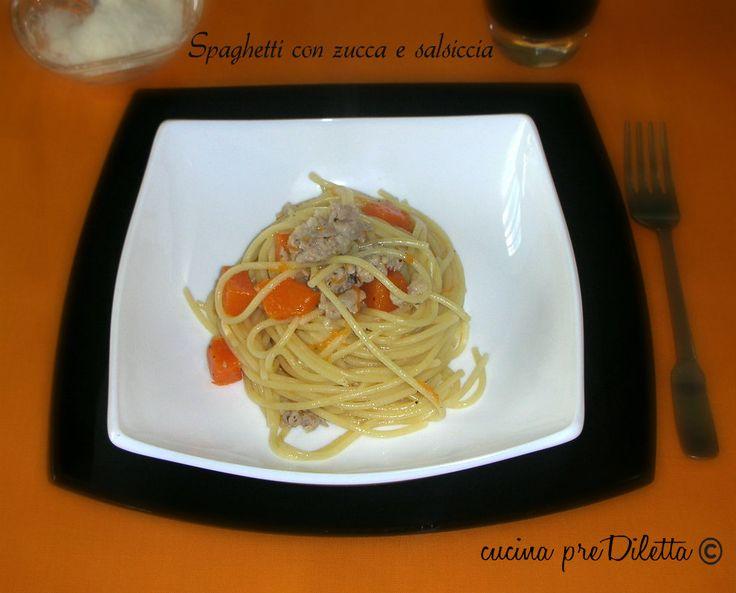 Spaghetti con zucca e salsiccia - ricetta | cucina preDiletta