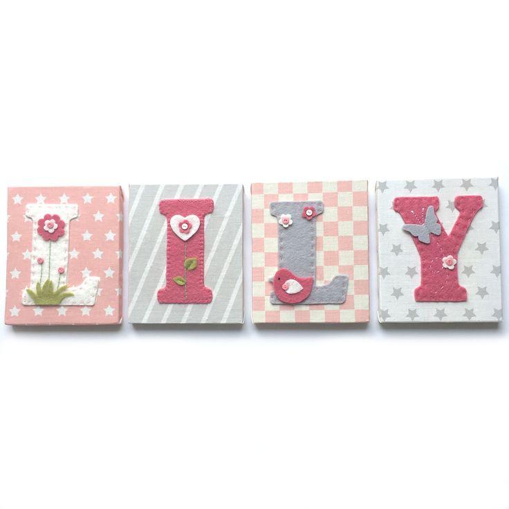 78 id es propos de lettres en tissu sur pinterest bricolages en tissu d - Lettre chambre enfant ...