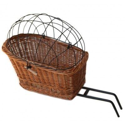 bicycle bike dog//cat Prestige Wicker Pet Carrier straw Basket