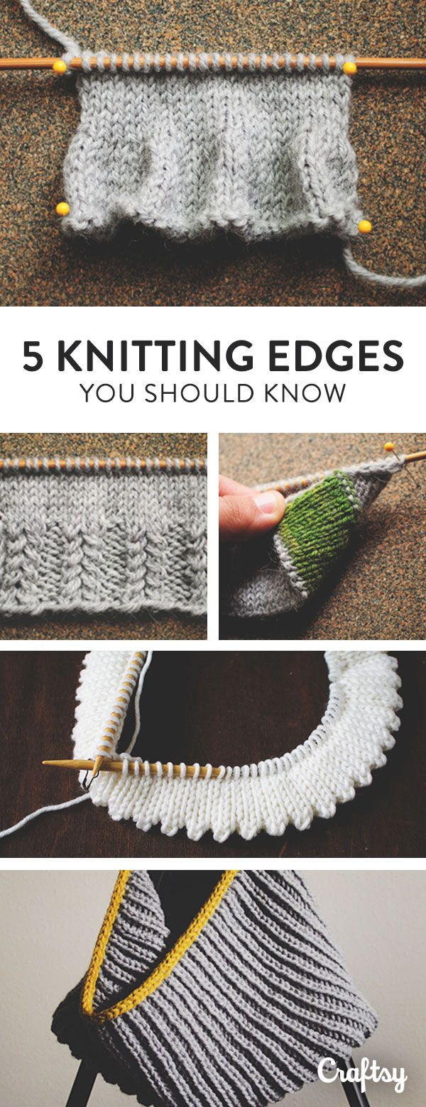 Are you a knitting know it all? Double check you basic know-how as we explore 5 different knit edge techniques that every knitter ought to know