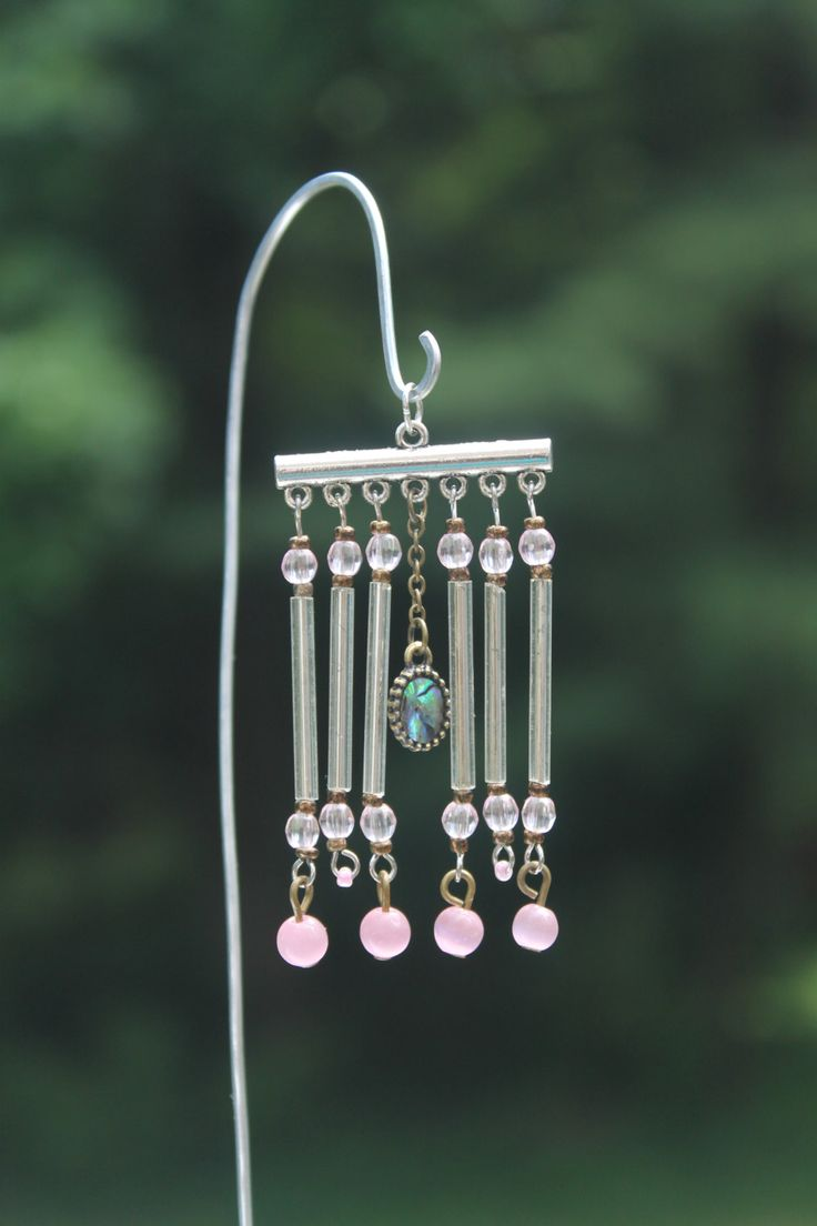 Miniature Fairy Garden Wind Chime Dollhouse by TaraStarrDesigns