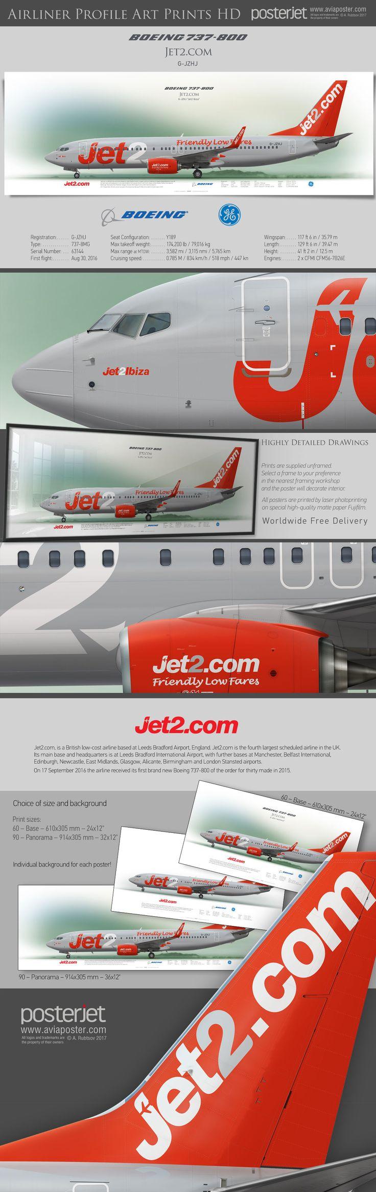 Boeing 737-800 Jet2.com G-JZHJ | www.aviaposter.com | #airliners #aviation #jetliner #airplane #pilot #aviationlovers #avgeek #jet #airport #pilotlife #cabincrew #boeinglovers #boeingpilot #boeingscrew #b737
