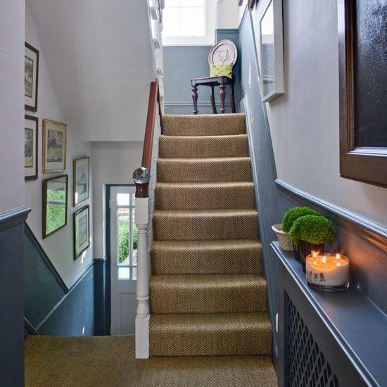 Pretty grey-blue hallway