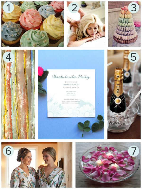 Spa Bachelorette Party Inspiration Board