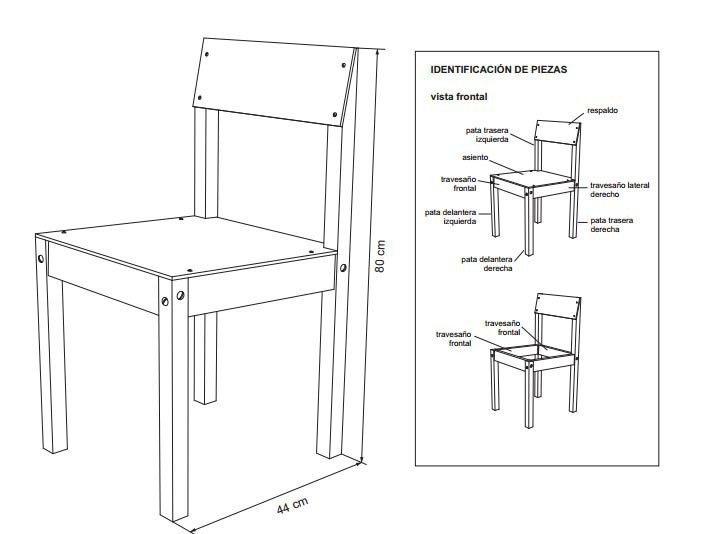silla- esquemas construir planos