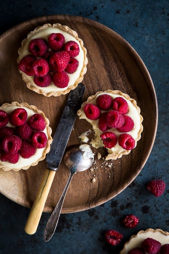 White Chocolate and Mascarpone Berry Tarts