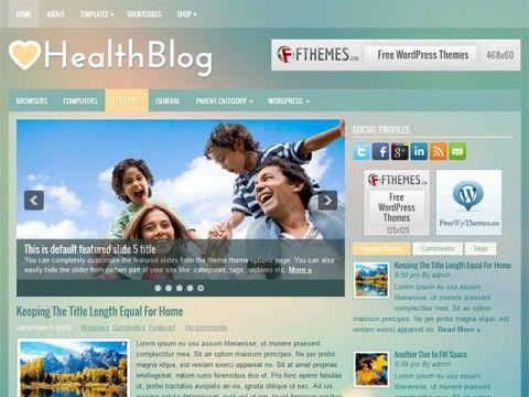 HealthBlog WordPress theme