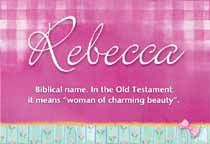 """In the Old Testament it means """"woman of charming beauty."""""""