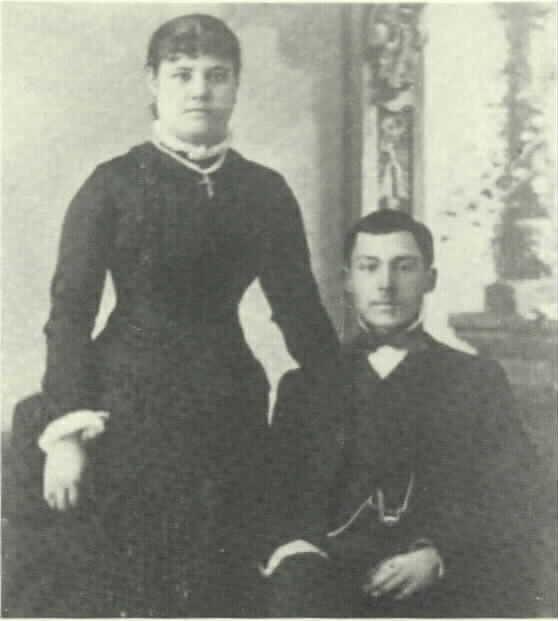 Paulita Maxwell and husband, Jose Jaramillo, 1882.love of Billy the kid