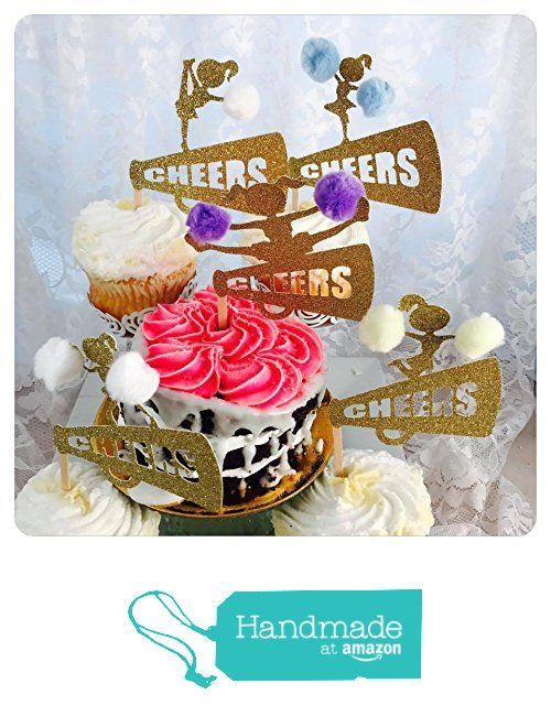 Cheerleading Cupcake Toppers - Cheer Birthday Party from Artsy Creativities https://www.amazon.com/dp/B01NBF6F8B/ref=hnd_sw_r_pi_dp_-3gYybPCQB1ZQ #handmadeatamazon