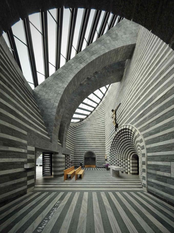 St John the Baptist Church   Lavizzara, Switzerland   Mario Botta, 1996
