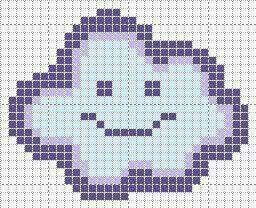 Cloud cross stitch. Baby cross stitch.