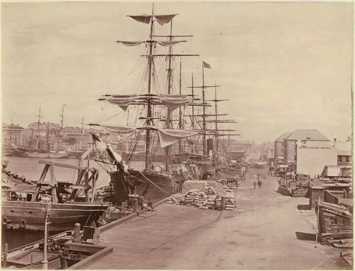 Circular Quay in Sydney in 1877.Photo from National Library of Australia.A♥W