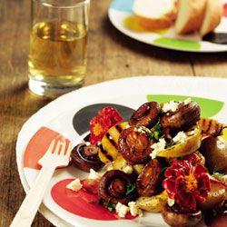 Warm mushroom salad {Braai Side Dishes}