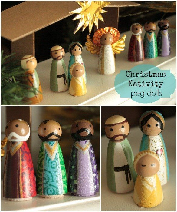 A Christmas Nativity Craft For The Whole Family: Create an heirloom for Christmas by @Denise Cortes | Pearmama.com for @mom.me