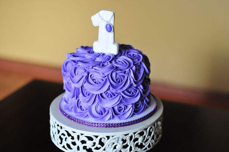 Sofia the first smash cake