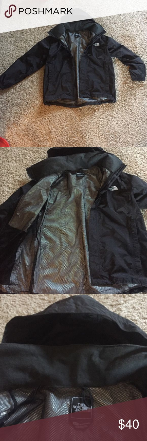 Men's Medium North Face Resolve Jacket Men's medium rain jacket from North Face. Jacket is in great condition and has no sign of wear. The jacket is too small for me, but it works great in the rain and wind! The North Face Jackets & Coats Raincoats
