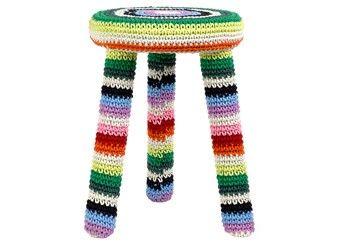 tabouret rond en crochet