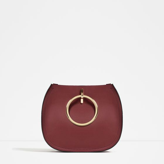 Image 1 of TOTE WITH METALLIC HANDLES from Zara