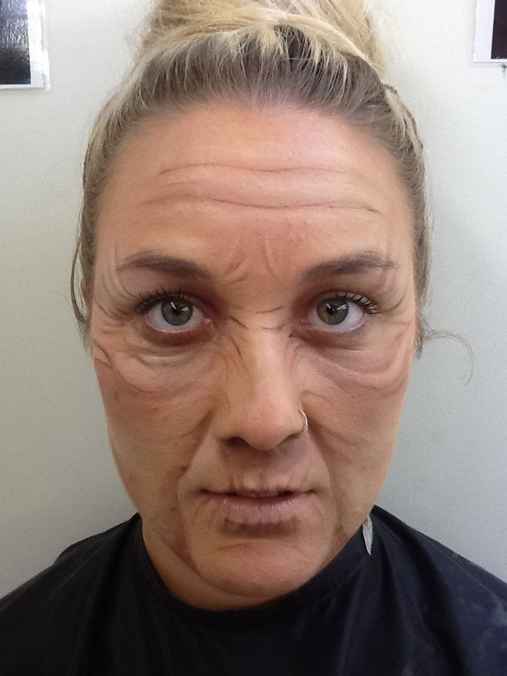 Ageing with creams- theatre makeup  (At the Academy of Makeup)