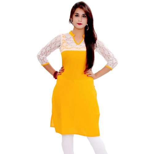 New Arrival Yellow and White Color New & Cotton Kurti_SF-506 Saiveera Fashion is Popular brand in Women Clothing in Surat. Saiveera Fashion is Produce many kind of Women's Clothes like Anarkali Salwar Suits, Straight Salwar Suits, Patiala Salwar Suits, Palazzos, Sarees, Leggings, Salwars, Kurtis, etc. For any Query Contact/Whatsapp on +91-8469103344.