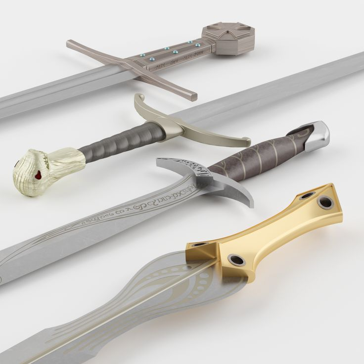 3D realistic replicas of movie swords. Game of Thrones Longclaw Sword of Jon Snow, Lord of the Rings Frodo's Sting Sword, Robin Hood Sword Russell Crowe,Troy The Achilles Sword Brad Pitt.