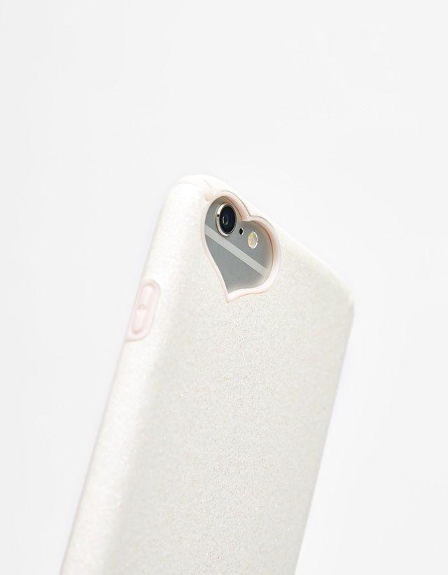f7be42de4e8 Glittery iPhone 6 plus/ 7 plus/ 8 plus case with heart detail - Bershka