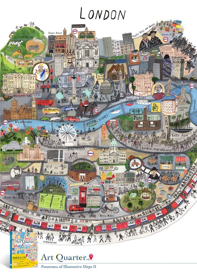 Map of London by Maisie Paradise Shearring