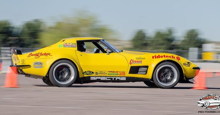 """Does it take a killer """"instinct"""" to win? Congrats to Chris Smith for winning the Pro Class at this past weekend's #Goodguys Spring Nationals! His famous 48 Hour Corvette is powered by a 630HP 427ci Lingenfelter LS7 mated to a Bowler T-56 Magnum transmission and rides on #RideTech's new Instinct shocks, and BFG Rival tires wrapped around 18x11 #Forgeline #GA3R wheels finished with Gunmetal centers & Brushed outers! See more at: http://www.forgeline.com/customer_gallery_view.php?cvk=1594"""