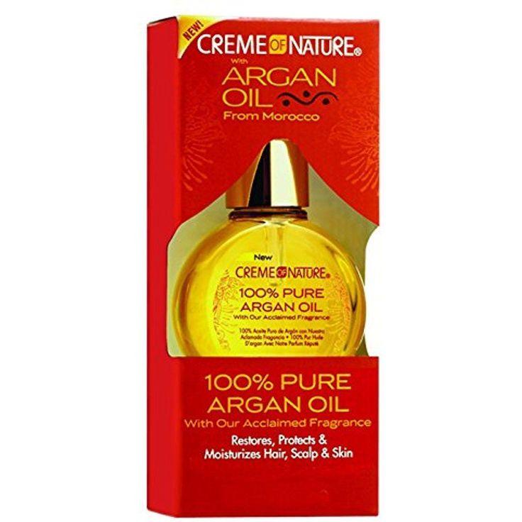 Argan Oil Creme Of Nature 100% Pure Protect Moisturize Hair Scalp Skin 0.3 Ounce #CremeofNature