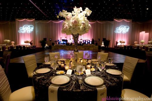 Gold And Black Wedding Ideas: Black And Gold Reception Idea
