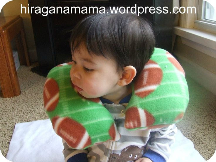 Free Travel/Neck Pillow Pattern 子どものトラベル/旅行用まくら(ネックピロー)、無料パターン We bought plane tickets to Japan! Yipee! I am EXCITED but mixed in with the excitement is a lot of nervousness. I am especially nervou…