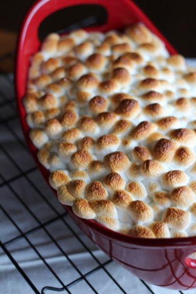 Browned marshmallows look especially yummy in red bubble and brown stoneware… This recipe was my Grandma Annie's that's been passed down to my mom, and now to me. I'm not sure how similar it is to other candied yam recipes, but since I've only had one other version that my Mother. In. Love. makes with...Read More »