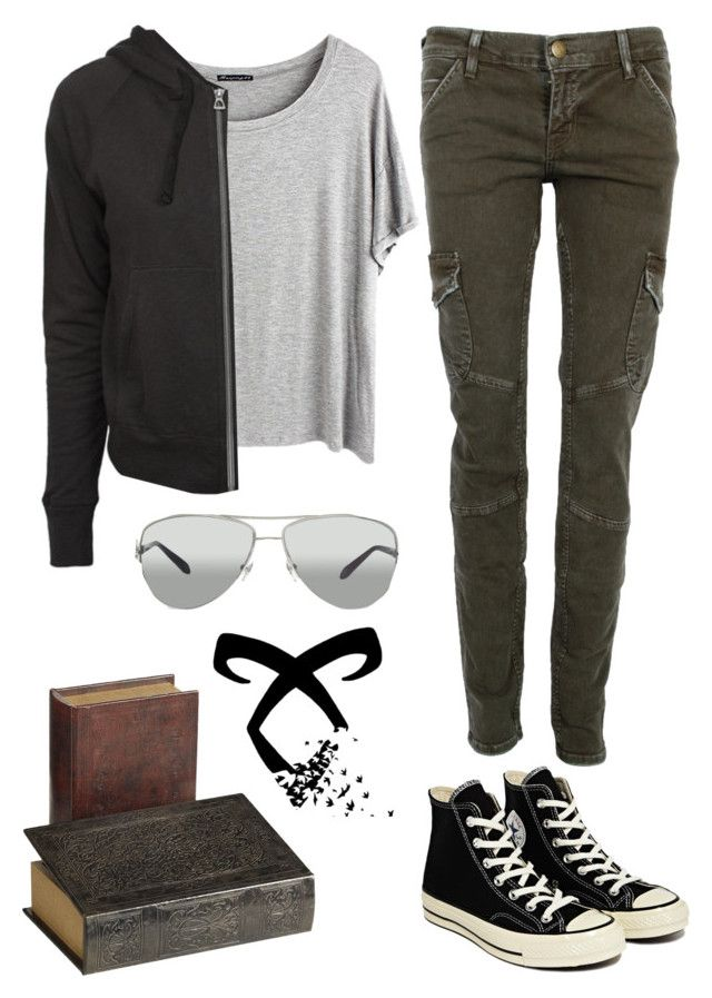 """""""Clary Fray"""" by ibavale14 ❤ liked on Polyvore featuring CARGO, Chicnova Fashion, James Perse, Converse and Tiffany & Co."""