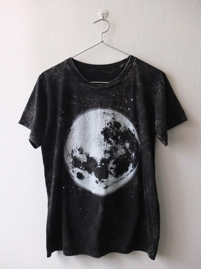 Full moon space stone washed punk rock goth by Badconceptual