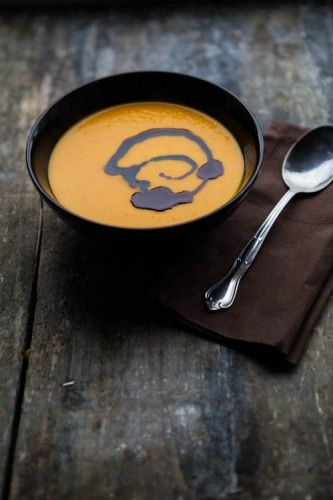 Kürbis-Suppe mit Kokosmilch