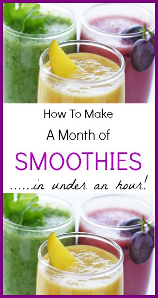 How to Make a Month of Smoothies in Under an Hour!
