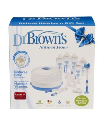 Dr Browns Newborn Gift Set - microwaveable sterilisers - Mothercare