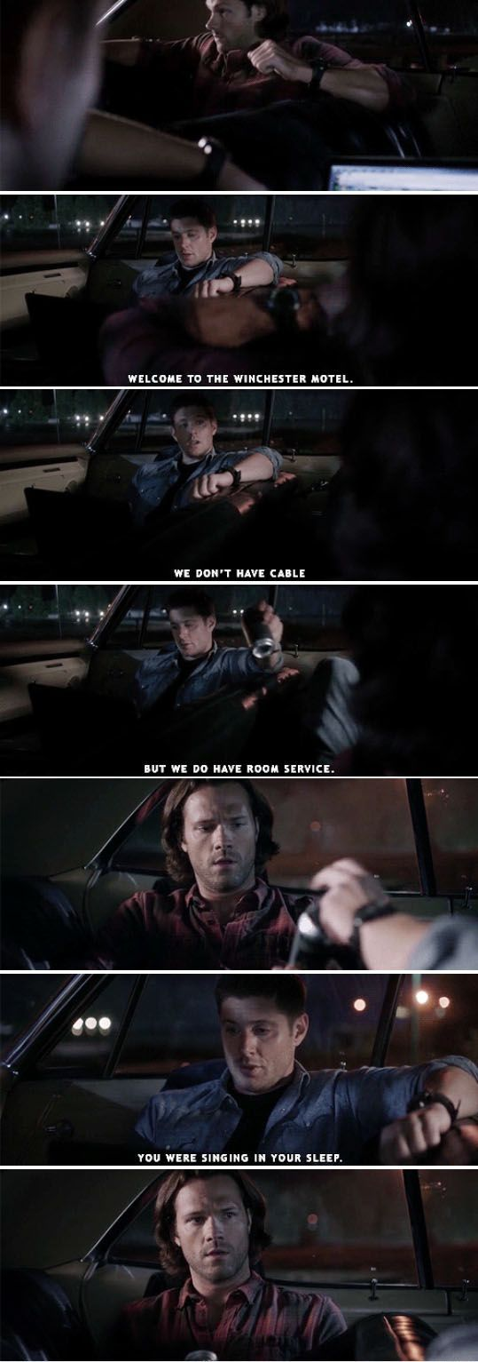 "11x04 Baby [gifset] - ""Welcome to the Winchester Motel"" - Sam and Dean; Supernatural:"