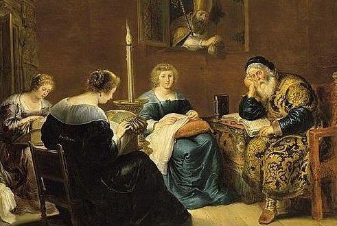 'De gift van Sint-Nicolaas'  Cornelis de Vos  (1584 - 1651)