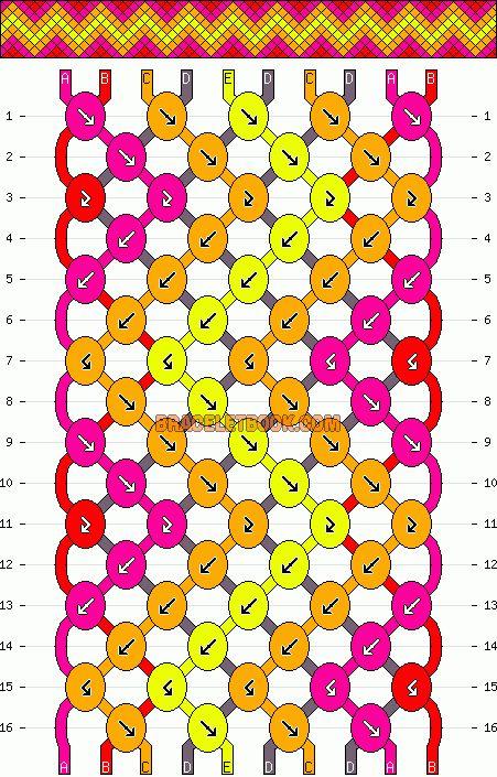 Dit is een leuk patroon dat laat zien hoe je een vriendschap armband kunt maken. Ik heb er verschillende op dit bord staan.