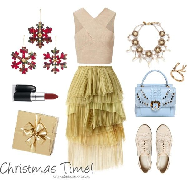 CHRISTMAS TIME! by helenabranquinho on Polyvore featuring moda, Burberry, ASOS, Paula Cademartori, Erickson Beamon, MAC Cosmetics and H&M